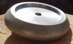 "CBN Grinding Wheel 5"" x 7/8"" Timber Wolf® Tooth Profile  for Oil Cooled Sharpeners(Fits BMS250, BMS200, Shop and Pro) Details"