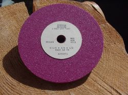 "Ruby Grinding Wheel 5 1/4"" Diameter x 3/8"" Thick x 1/2"" Arbor  Details"